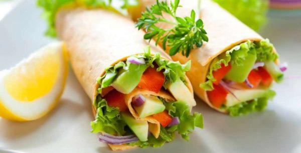 Dieta vegetariana: menù di esempio